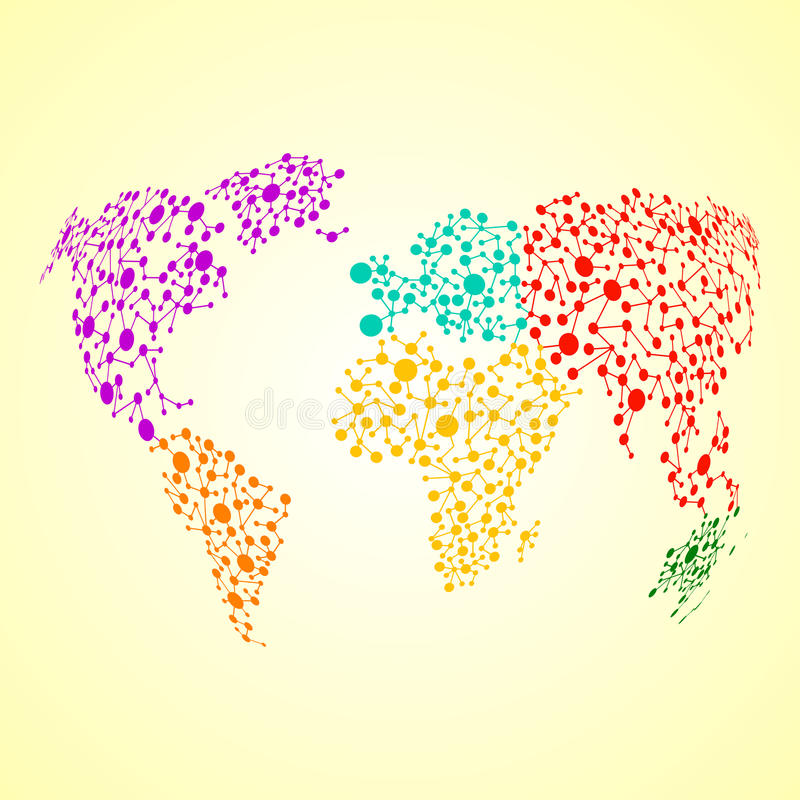 从分子结构的抽象地球地球 皇族释放例证