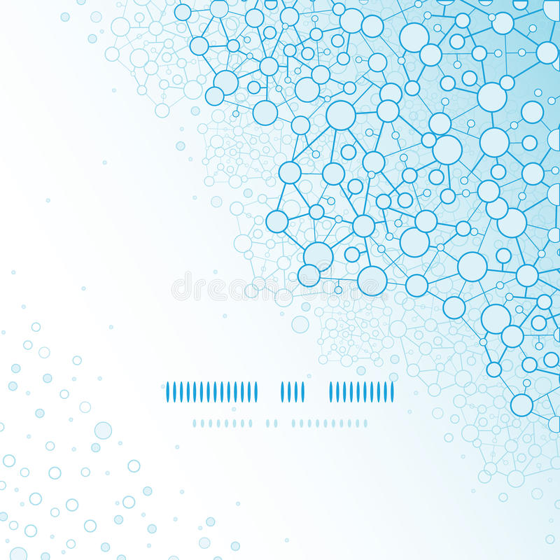 分子结构科学方形的模板 库存例证