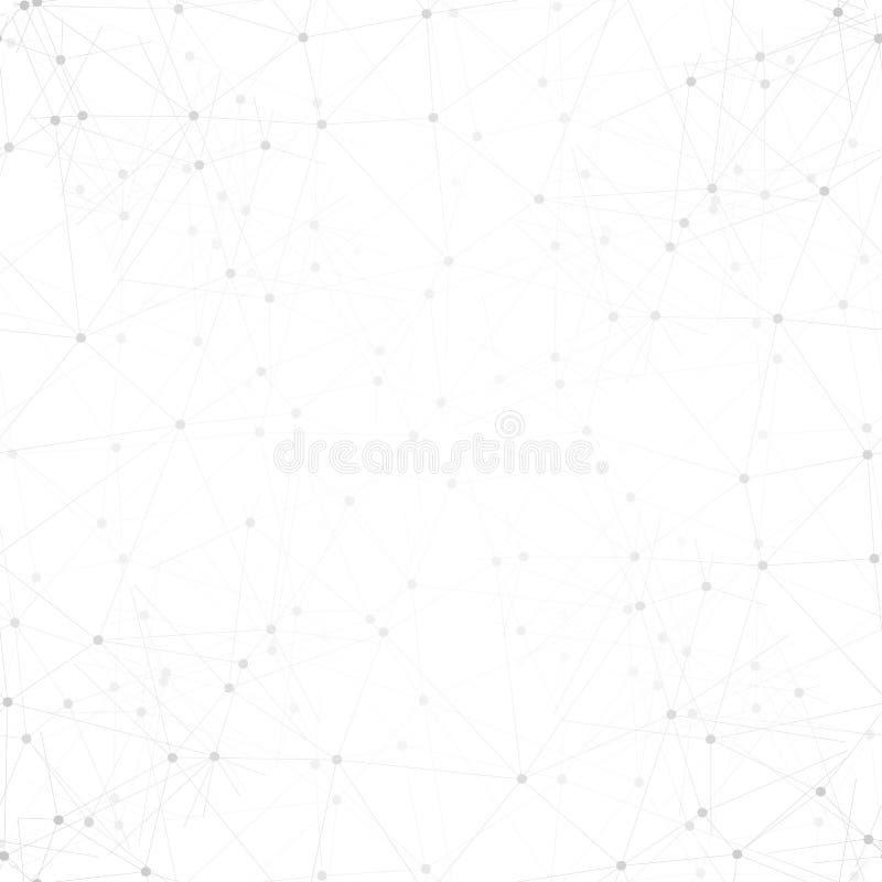 分子结构背景,无缝的样式 向量例证