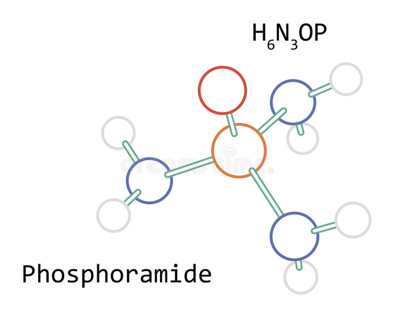 分子H6N3OP Phosphoramide 库存照片