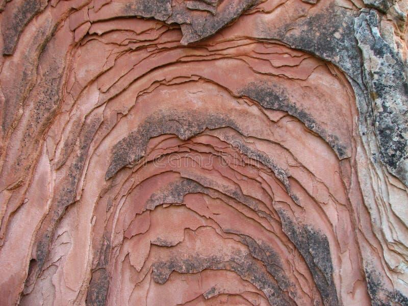 分层堆积砂岩 库存图片