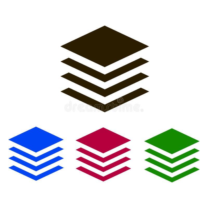 分层堆积象 签署图标 库存例证