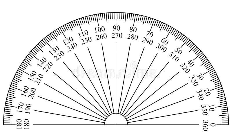 分度器模板 皇族释放例证