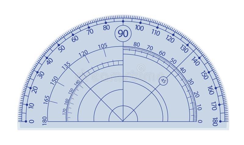 分度器 向量例证