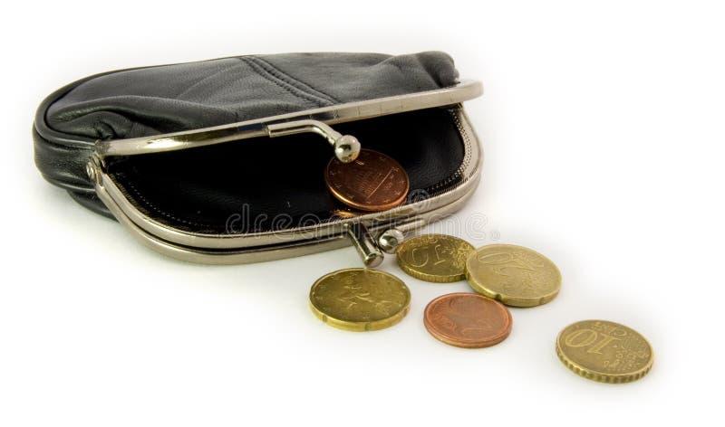 分开张钱包 免版税图库摄影