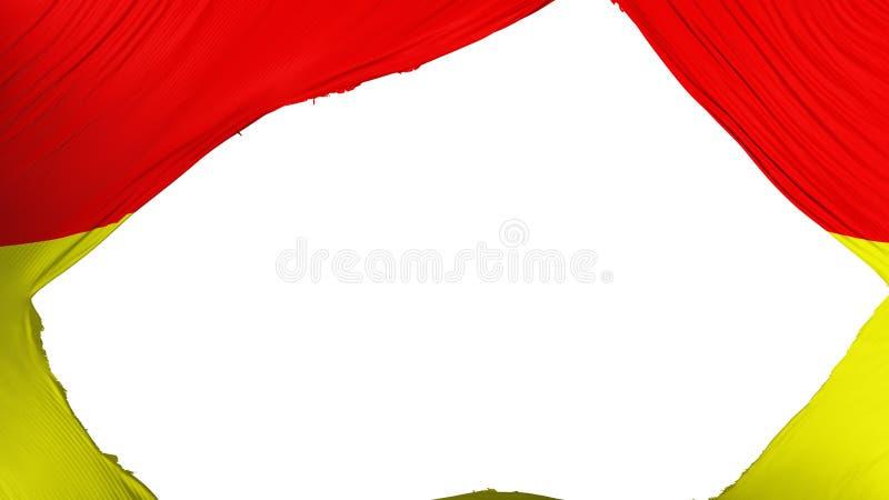 分开的比勒陀利亚市旗子 向量例证