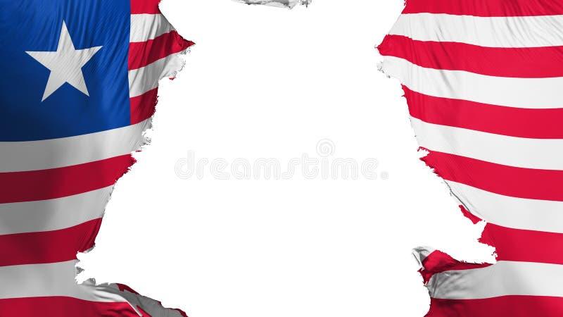 分开被剥去的利比里亚旗子 库存例证