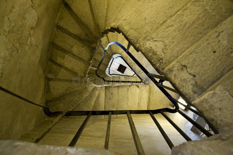 分成三角形螺旋的台阶 库存照片