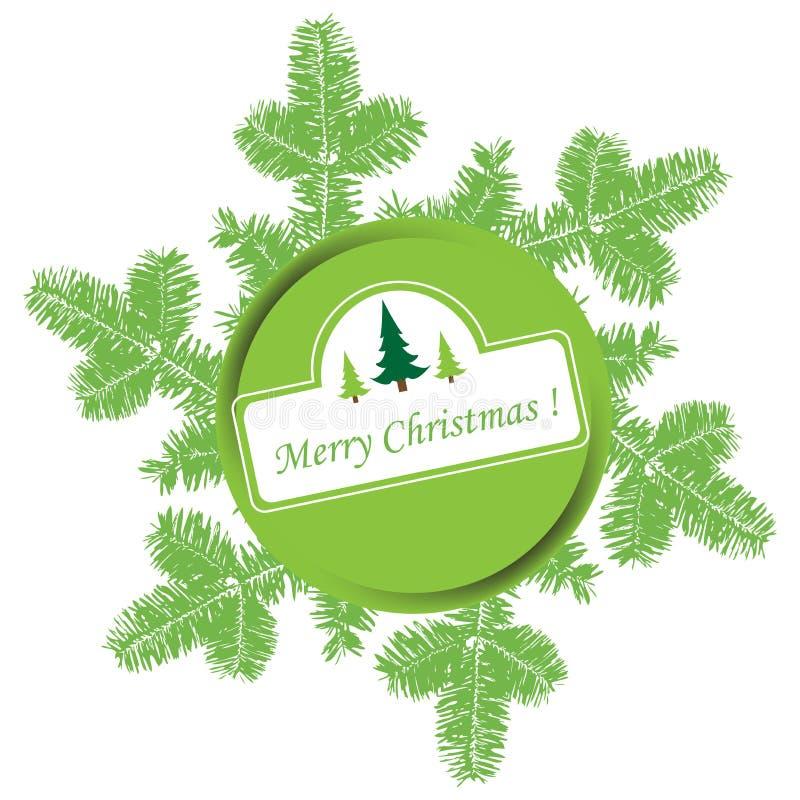 分支圣诞节冷杉绿色 皇族释放例证