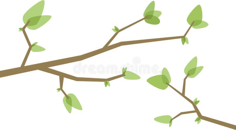 分支结构树 皇族释放例证