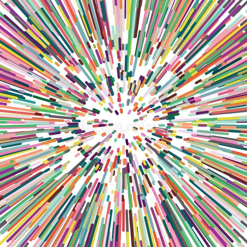 分散剂颜色条纹,抽象背景 向量例证