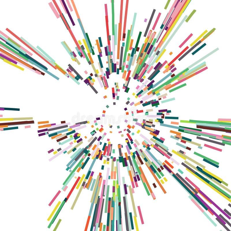 分散剂颜色条纹,抽象背景 库存例证