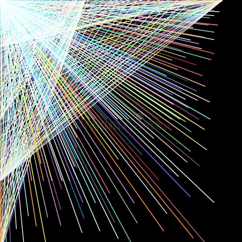 分散剂颜色直线,抽象背景 库存例证