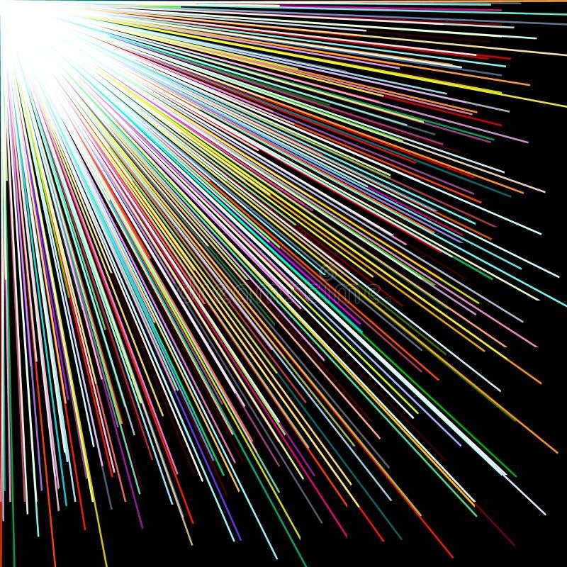 分散剂颜色直线,抽象背景 皇族释放例证