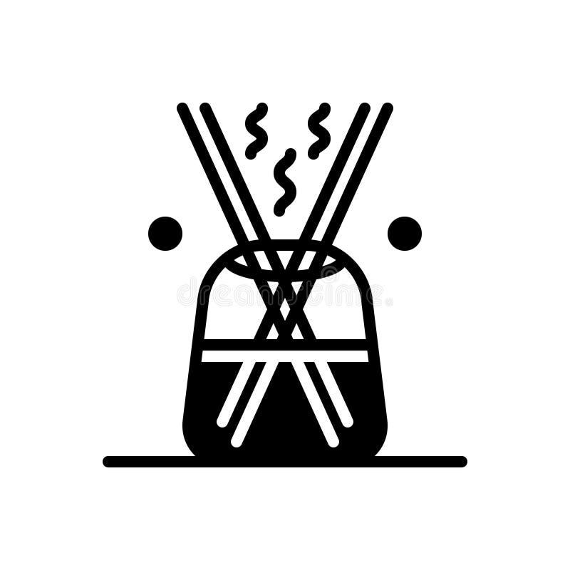 分散器、增量剂和放大器的黑坚实象 向量例证