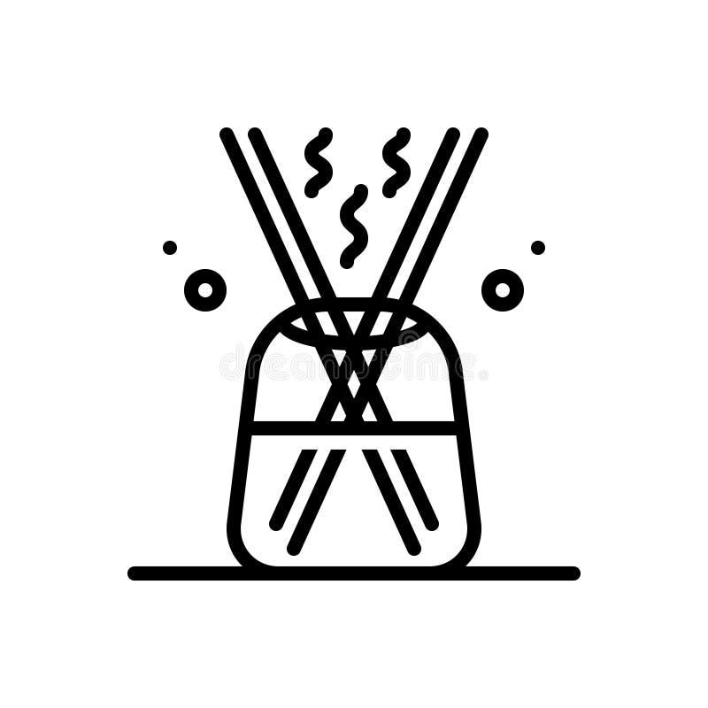 分散器、增量剂和放大器的黑线象 库存例证