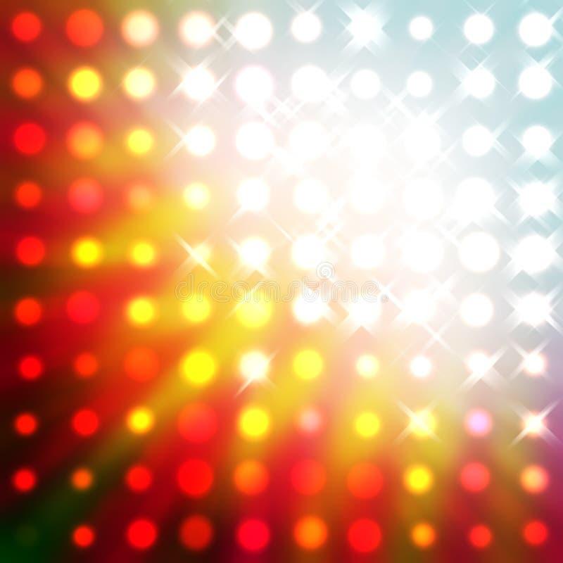 分散的射线 库存例证