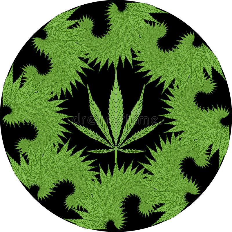 分数维大麻 库存例证