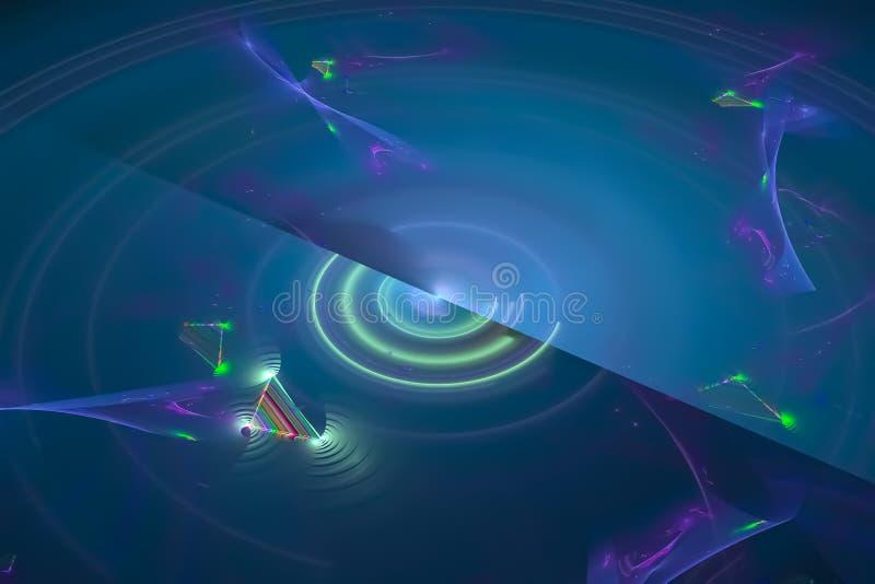 分数维幻想动态背景闪闪发光行动样式纹理设计飞溅形状波浪背景元素创造性的未来 向量例证