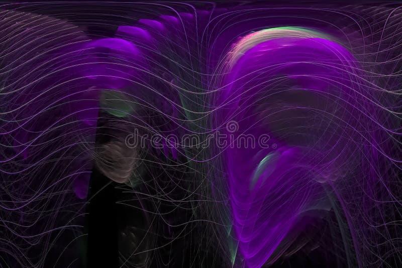 分数维幻想形状波浪纹理飞溅不可思议的闪闪发光爆炸火焰力量设计背景创造性的未来动力学 向量例证