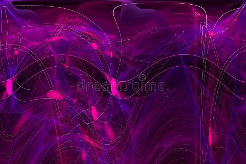 分数维幻想波动图式scienc贴墙纸不可思议的闪闪发光爆炸火焰力量设计背景创造性的未来动力学 库存例证