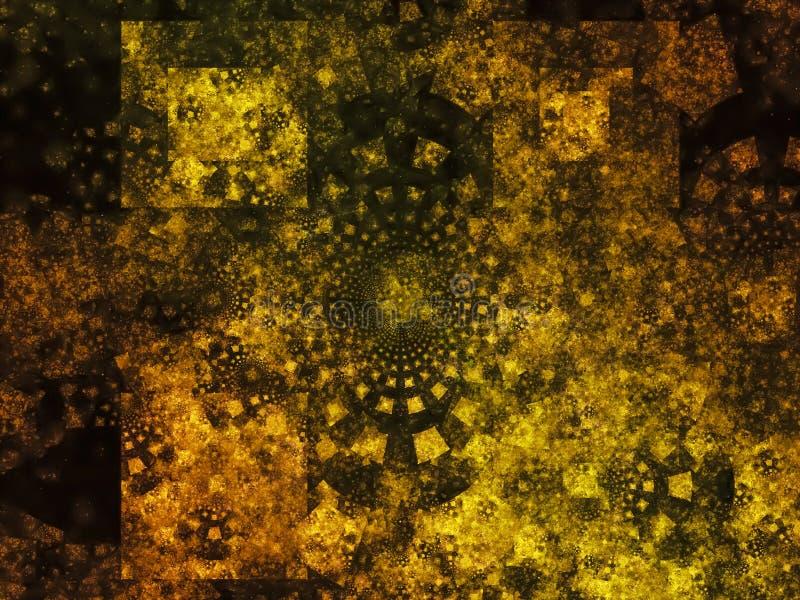 分数维抽象星系宇宙创造性数字式充满活力的泼溅物设计 免版税库存照片