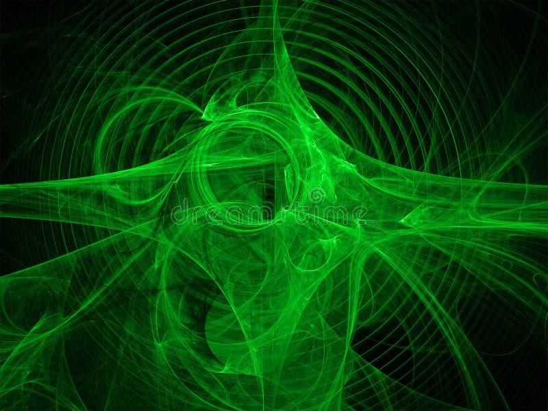 分数维绿色图象 皇族释放例证