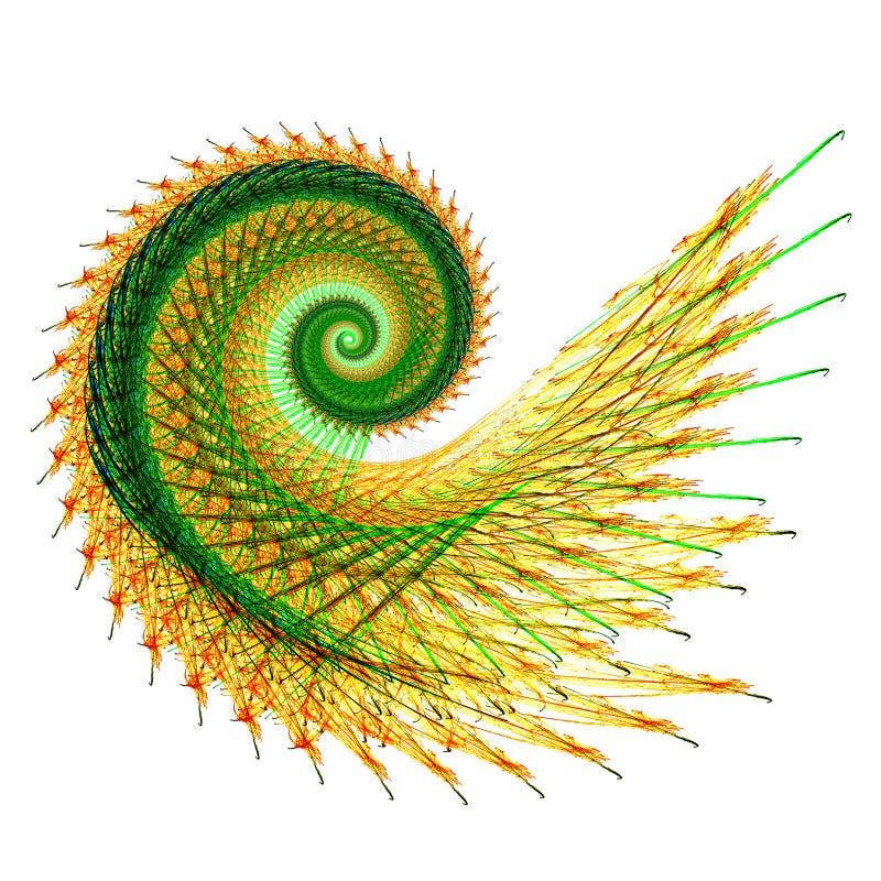 分数维螺旋 向量例证