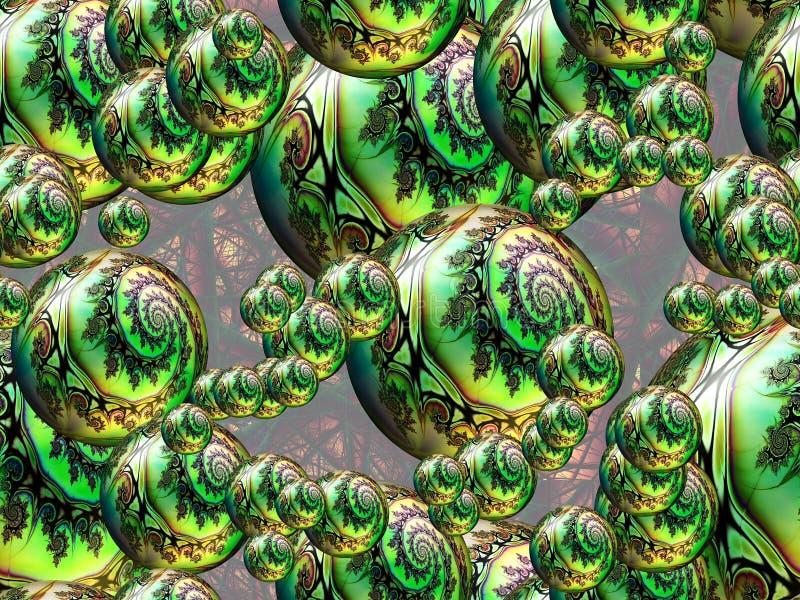 分数维Sphericals 免版税库存照片