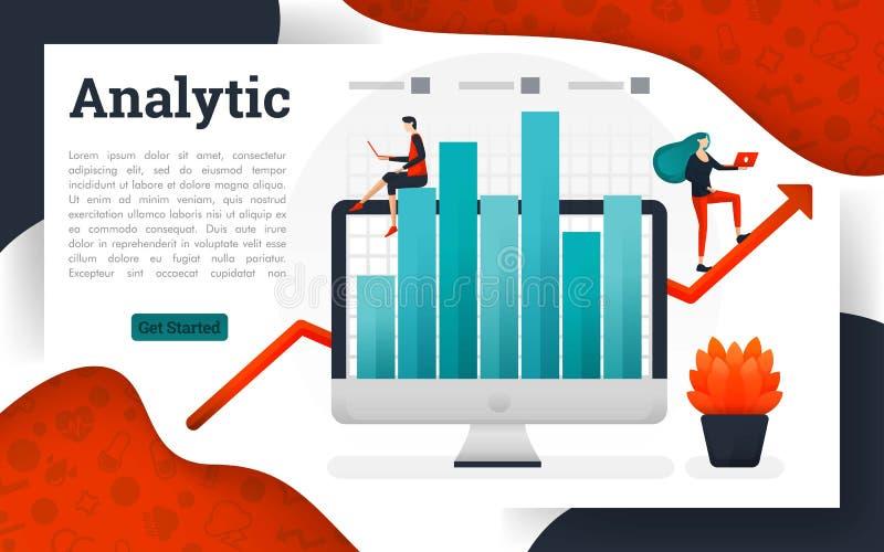 分析业务管理研究解答 向量例证
