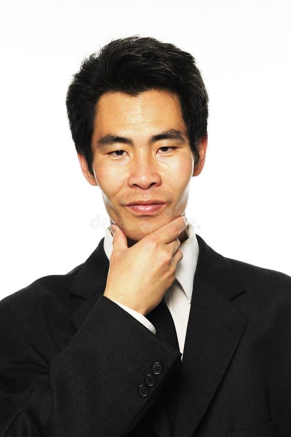 分析亚洲生意人 库存照片