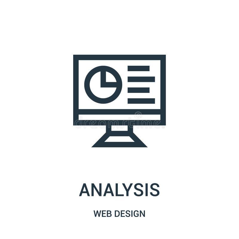 分析从网络设计汇集的象传染媒介 稀薄的线路分析概述象传染媒介例证 库存例证
