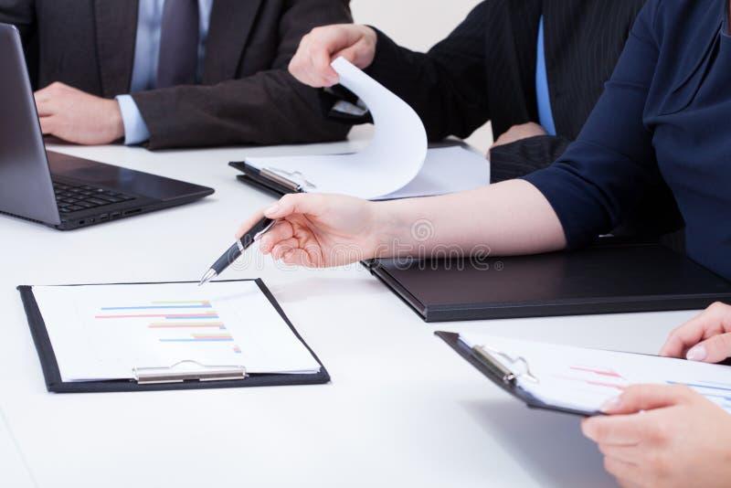 分析企业专栏 免版税库存图片