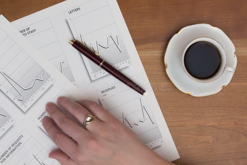 分析企业演变总额 库存图片