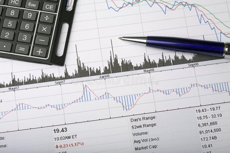 分析图表价格股票 免版税图库摄影