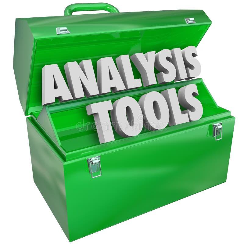 分析工具工具箱评估考试测量 库存例证