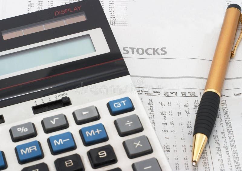分析市场研究股票表 图库摄影