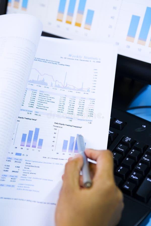 分析市场股票 免版税库存照片