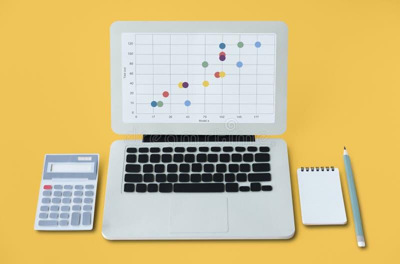 分析式样流程图象 免版税库存图片