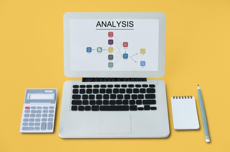 分析式样流程图象 免版税图库摄影