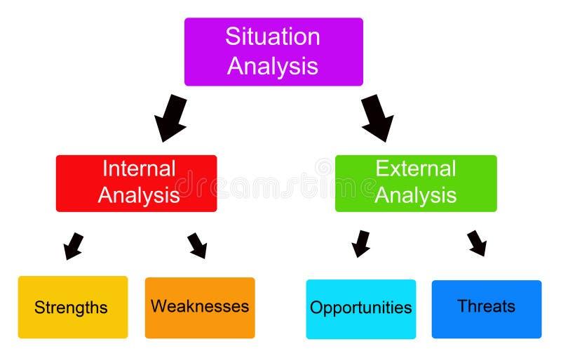分析情形 向量例证