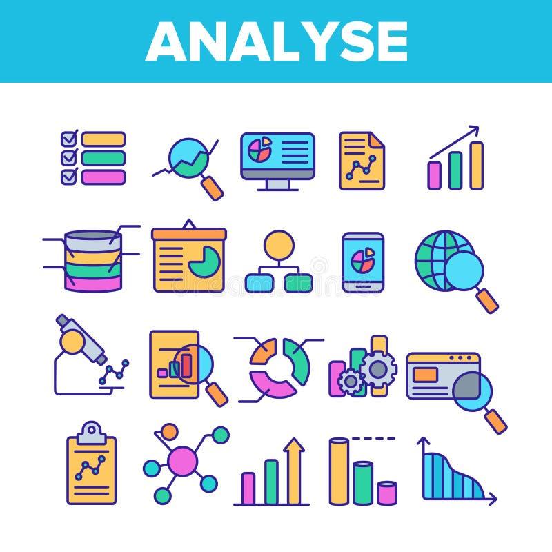 分析数据向量种族分界线象集合 向量例证