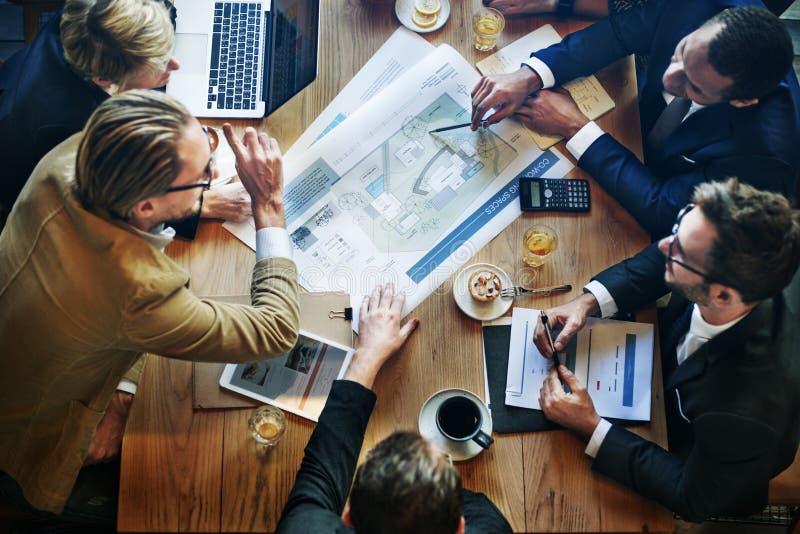 分析激发灵感企业规划视觉概念 免版税库存图片