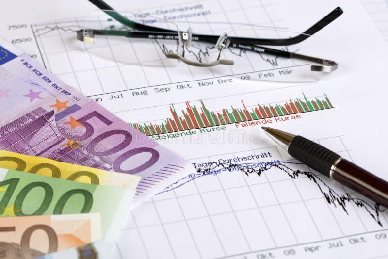 分析股票 库存图片