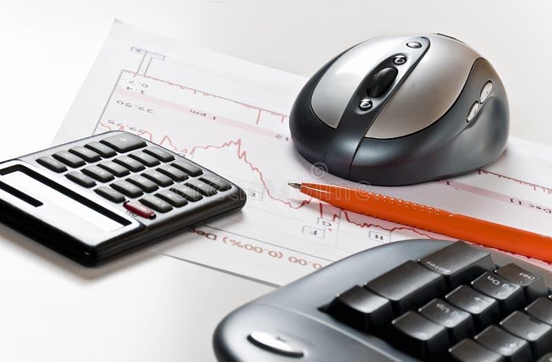 分析计算 免版税图库摄影