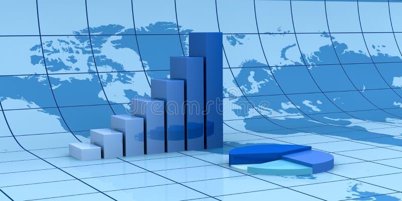 分析财务全球 库存例证