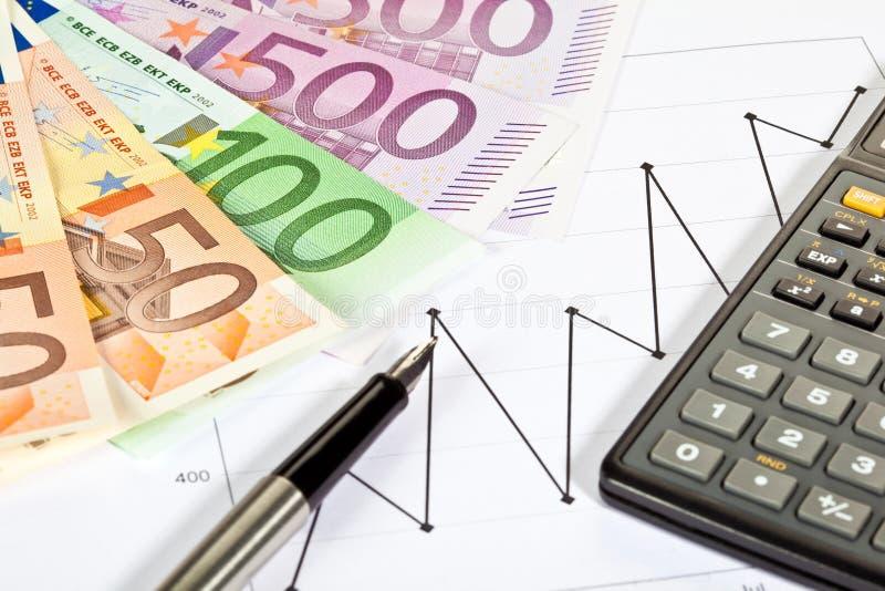 分析财务趋势 免版税图库摄影