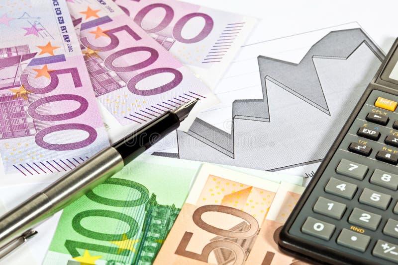 分析财务趋势 免版税库存图片