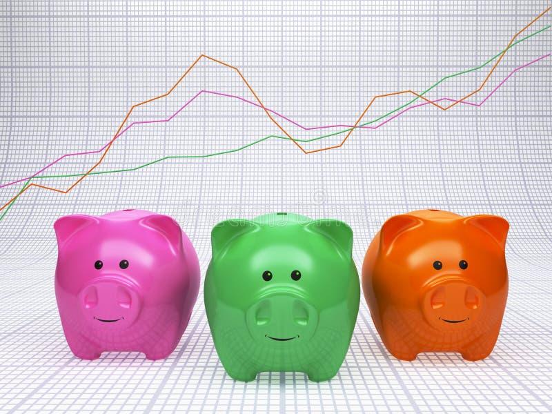 分析财务 免版税库存照片
