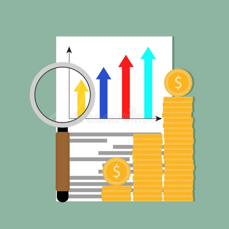 分析赢利市场数据例证 向量例证